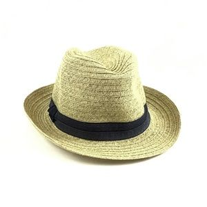 August Hat Company Fedora Straw Hat Women's OS Tan